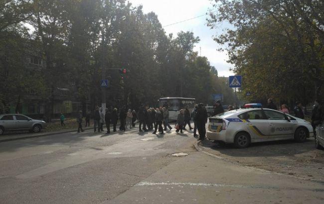 """Фото: жители Одессы требуют возобновить электроснабжение (""""Таймер"""")"""