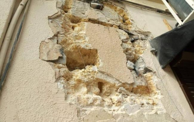 Фото: Стена, где был барельеф