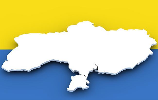 На Буковині у День Соборності вивісили карту України без Криму
