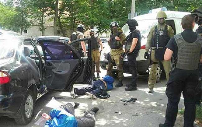 Фото: задержание грабителей в Виннице (пресс-служба НПУ)