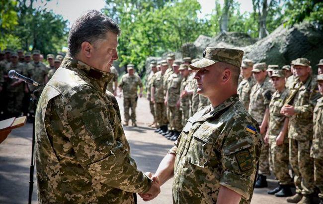 Фото: встреча Порошенко с бойцами АТО в Донецкой области