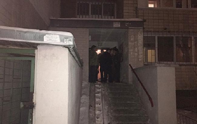 Фото: місце вибуху у багатоповерховому будинку у Києві