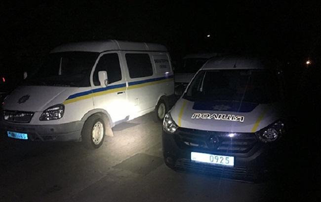 Фото: поліція на місці вибуху гранати під Черкасами (прес-служба НПУ)
