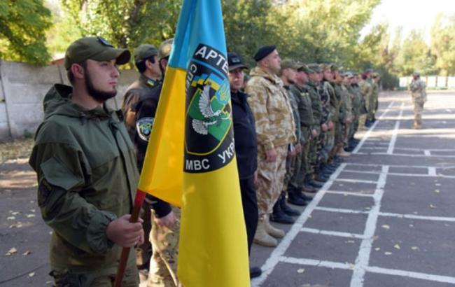 Фото: новый батальон милиции