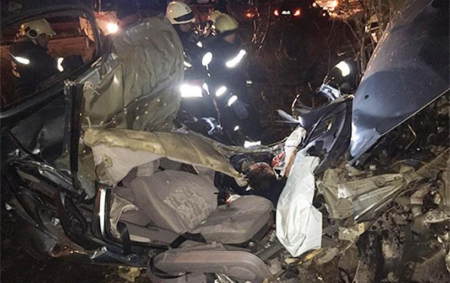 Фото: место аварии (Национальная полиция)
