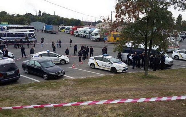 Фото: место убийства полицейского в Днепре