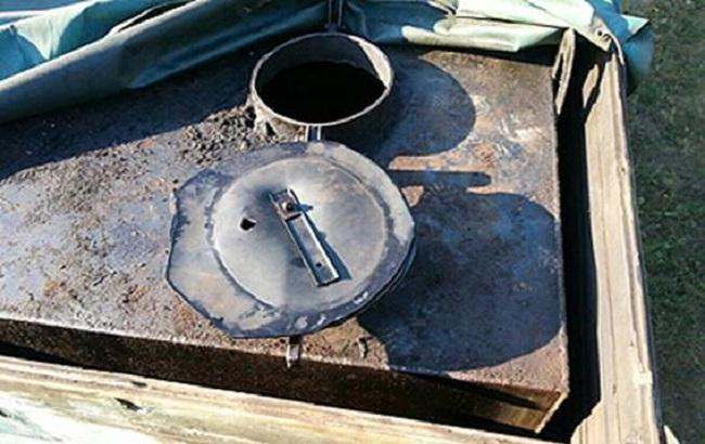 Фото: изъятая емкость для перевозки нефтепродуктов