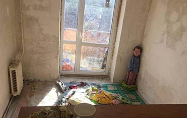 Фото: Мальчик в наркопритоне (npu.gov.ua)