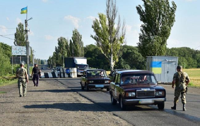 Фото: украинский блокпост в зоне АТО