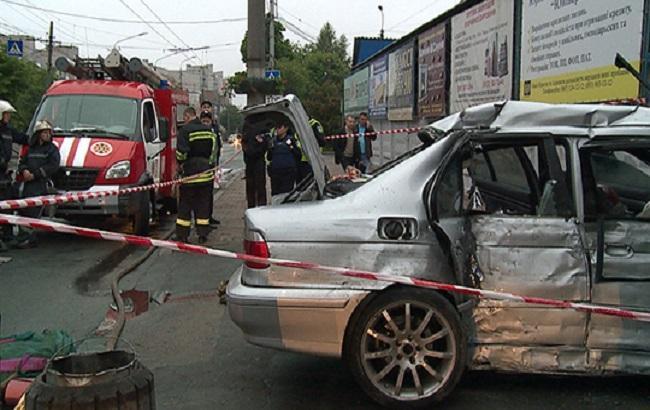 Фото: последствия аварии в Виннице