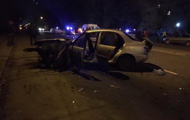 ВХмельницком вДТП авто патрульной полиции столкнулось стакси