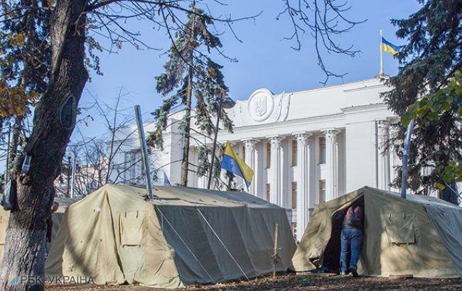 Митинг под Радой:  в палаточном лагере находятся около 100 активистов