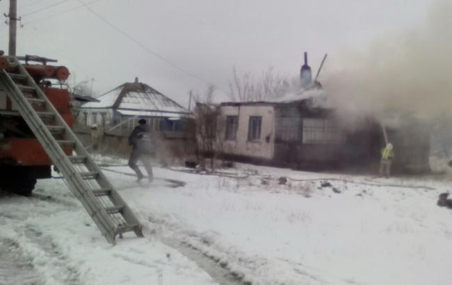 Фото: в Харьковской области в частном доме произошел пожар