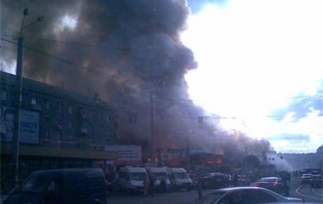 Фото: в Виннице горел Центральный рынок
