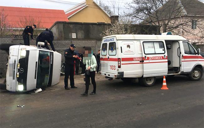 Фото: ДТП в Одессе (facebook.com-odesapolice)