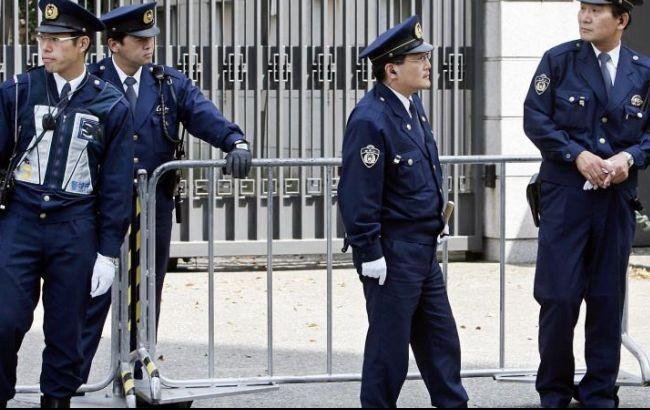 Фото: полиция Японии оцепила место взрывов