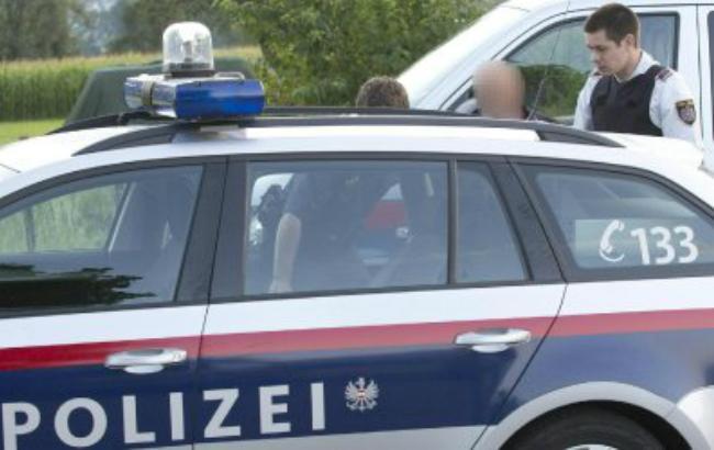 Фото: австрийская полиция арестовала подозреваемого местного жителя (AFP)