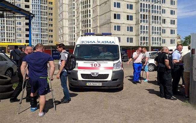 Фото: стрельба (facebook.com-UA.KyivPolice)