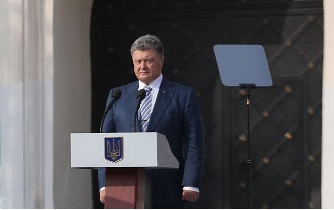 Президент объявил, что сегодня уходит клинии фронта