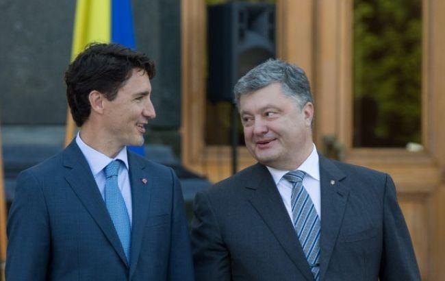 Фото: Порошенко поблагодарил Трюдо за помощь в трудные для Украины времена