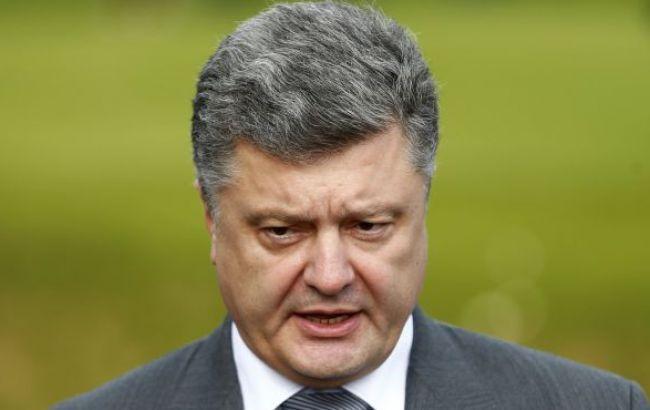 """Порошенко назвал """"военный парад"""" в Донецке 9 мая брутальным фарсом"""