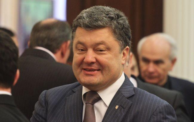 Порошенко за 2014 г. заработал почти 369 млн грн
