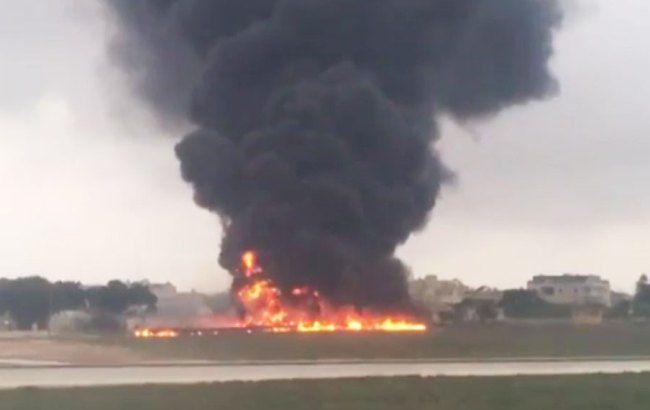 Фото: крушение самолета на Мальте
