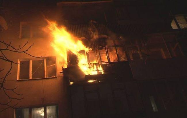 Фото: пожар в Днепропетровской области