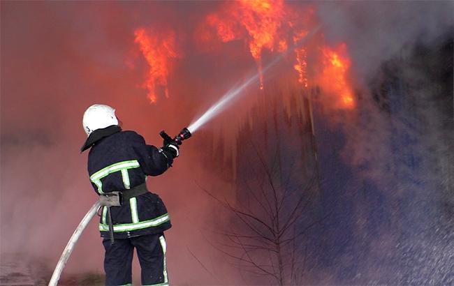 В центре Киева произошел пожар