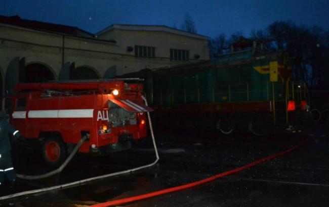 Фото: пожар в одесском депо (сайт-города Одессы 048.ua)