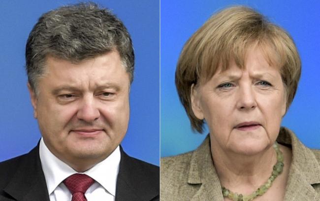 Фото: Петр Порошенко и Ангела Меркель