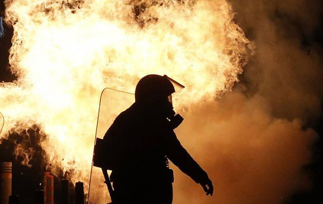 Фото: протест в Афинах