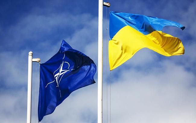 Фото: флаги Украины и НАТО president.gov.ua)