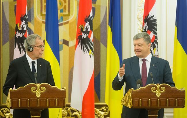 Фото: президенты Украины и Австрии (president.gov.ua)