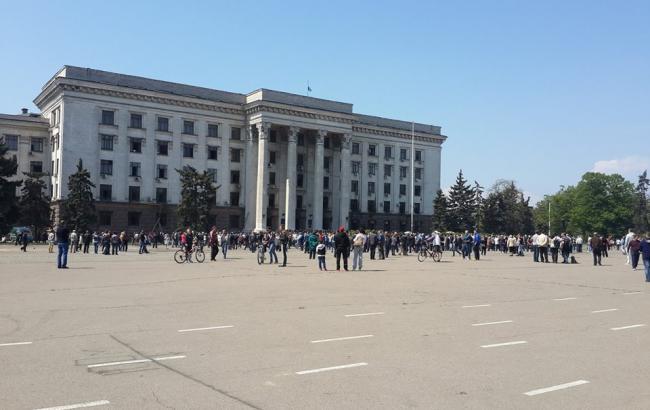 """В Одесі евакуювали людей з Куликова поля через """"замінування"""" Будинку профспілок"""