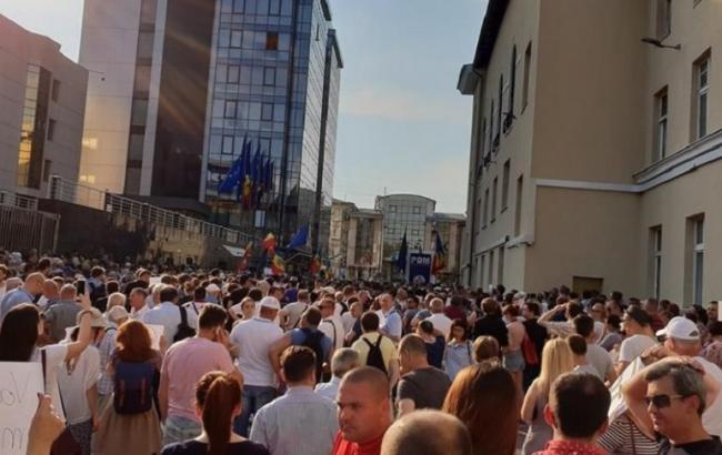 Протест у Кишиневі: понад тисяча людей вимагають визнати результати виборів мера