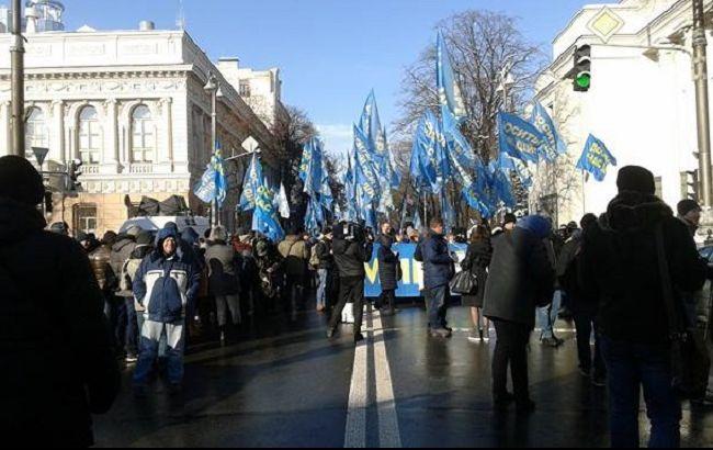 Фото: у Києві під Радою проходить мітинг