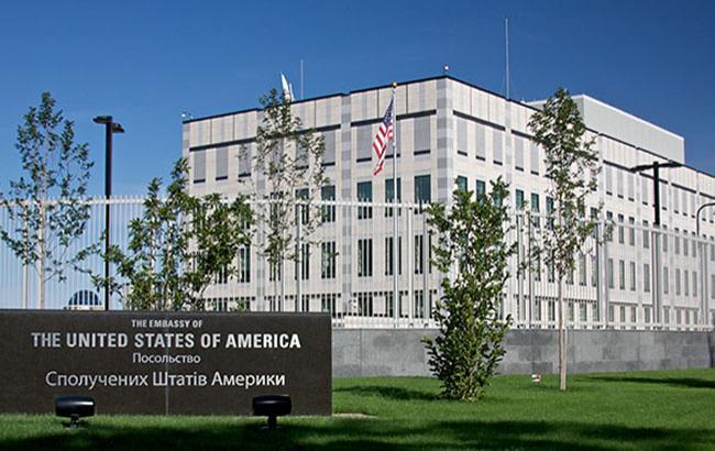 ВКиеве около посольства США произошел взрыв