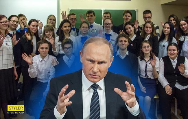 """""""Политическая педофилия"""": в сети показали, как детей в Дагестане заставляют """"любить"""" Путина"""