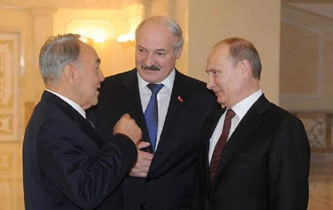 Володимир Путін, Олександр Лукашенко та Нурсултан Назарбаєв