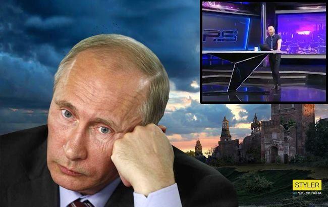 C*ка подзаборная: грузинский ведущий жестко обматерил Путина в прямом эфире