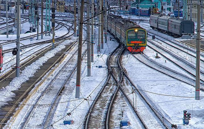 Непогода неповлияла надвижение поездов