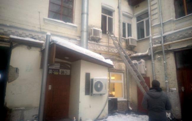 Фото: Пожар в Киеве (facebook.com/MNSKyiv)