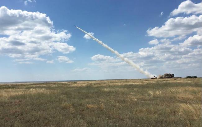 Фото: пуск нової ракети українського виробництва (Facebook /Yuri.Biriukov)