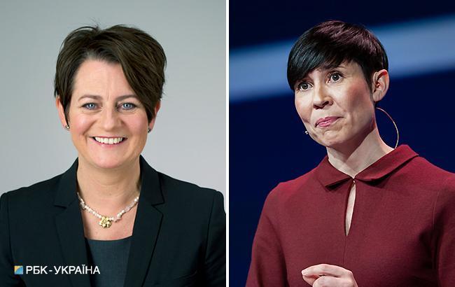 Фото: глави парламенту і МЗС Норвегії (РБК-Україна)
