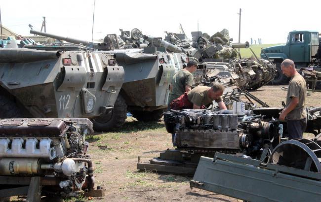 Фото (пресс-служба Генштаба ВСУ): ремонт военной техники