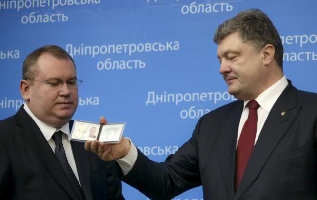 Глава ДнепрОГА Валентин Резниченко (слева) за полгода работы сумел показать свою эффективность не только Президенту Петру Порошенко, но и всем жителям региона