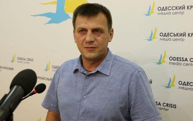 "Фото: лідер одеського ""Автомайдану"" Євген Резвушкін"