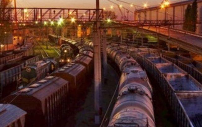 Фото: вагони затримані у зв'язку з введенням обмежень щодо транзиту через територію РФ