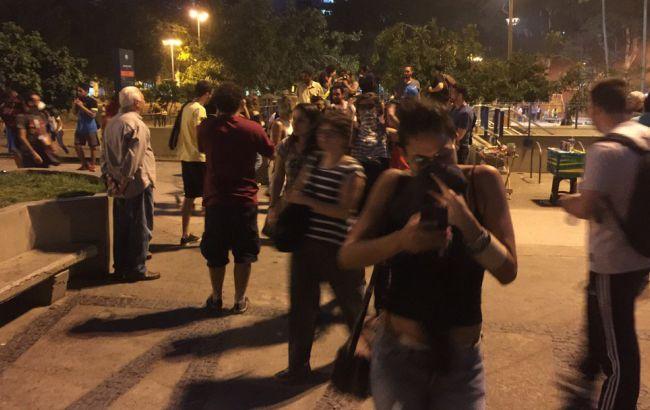 Фото: подтвержденных травм у демонстрантов не было